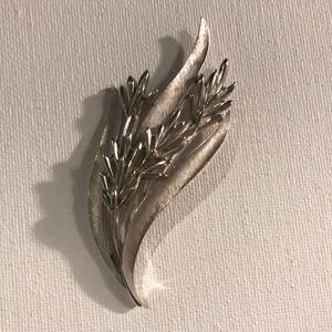 Silver Wheat Brooch